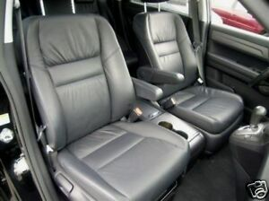 2007 2010 honda crv leather interior seat covers black. Black Bedroom Furniture Sets. Home Design Ideas