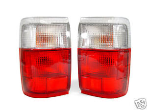 1990 1991 1992 1993 1994-1995 TOYOTA 4RUNNER SR5 EURO RED/CLEAR TAIL LIGHTS