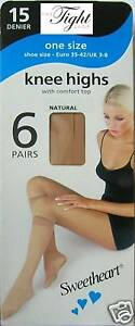 6-Pairs-15-Denier-Knee-Highs-6-colour-choice-SH-for-everyday-work-or-play
