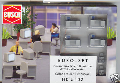 HO 1:87 scale Busch ILLUMINATED Lighted Computer Monitors Set 5402 on Rummage