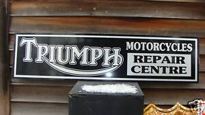 1950'S-60'S TRIUMPH MOTORCYCLE DEALER/SERVICE SIGN