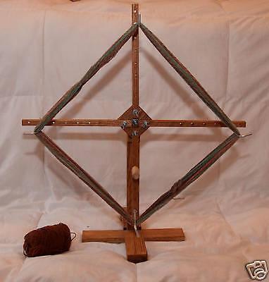 Portable Upright Oak Yarn Swift Winder