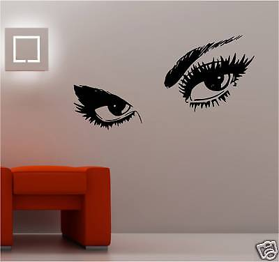 sexy womans eyes lady sticker wall art vinyl bedroom