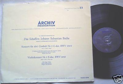 LP @ Instrumentalkonzerte v. Bach @ Tibor Varga Violine