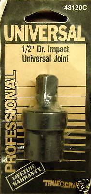 Truecraft 43120c 1/2 Dr. Impact Universal Joint (3 Pc. Lot)