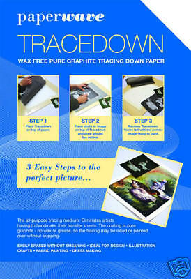 Tracedown - A4 Sheets - 1 sheet each of 5 colours