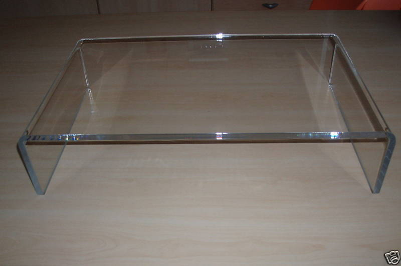ACRYLIC PERSPEX PC MONITOR LCD TV RISER STAND SHELF
