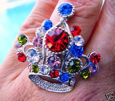 Crown Ring Is Elegant -beauty Pageants-size Adjustable-fits Most