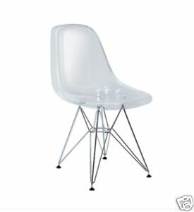 Eiffel Clear Acrylic Ghost Side Chairs Modern Chair New