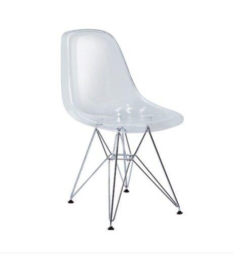 Eiffel Clear Acrylic Ghost Side Chairs Modern Chair New