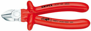 Knipex-70-07-160-S-Range-VDE-Fully-Insulated-Diagonal-Side-Cutters-160mm