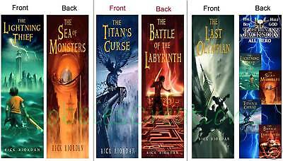 3 Lot/set-percy Jackson & The Olympians Lightning Thief Bookmarks (book Marks)
