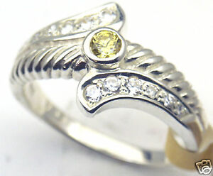 Yellow-CZ-Sterling-Silver-Ring-Rhodium-plated-18
