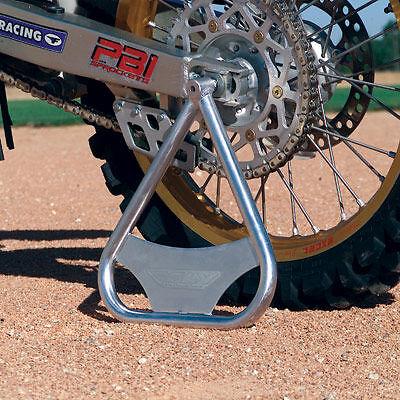 Fly-Racing-Tri-Stand-Motocross-MX-Dirt-Bike-Triangle-CR-KX-RM-YZ-Silver-Aluminum