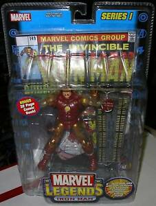 MARVEL LEGENDS   gold IRON MAN   VARIANT  SERIES I  MOC