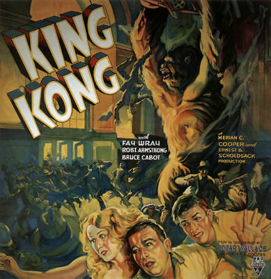 King Kong Fay Wray 1933 Vintage movie poster item 3