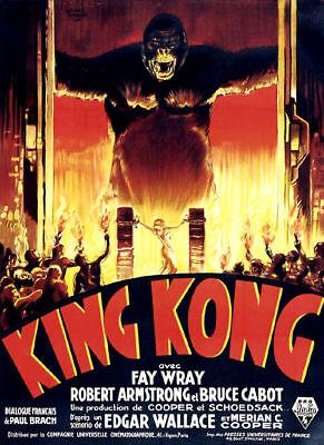 King Kong Fay Wray 1933 cult movie poster print  item 5