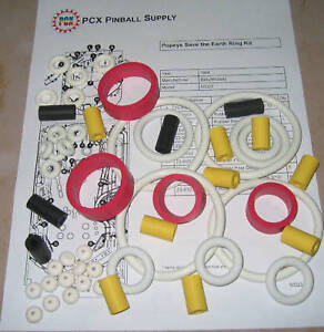 Details about 1994 Bally/Midway Popeye Saves the Earth Pinball Machine  Rubber Ring Kit