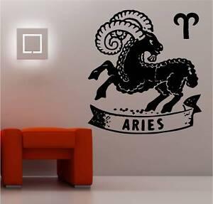 Aries Star Sign Zodiac Wall Art Sticker Vinyl Decal Ebay