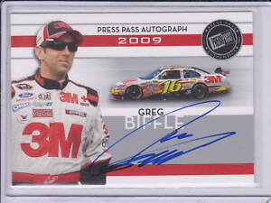 2009 Press Pass Auto Autograph Greg Biffle