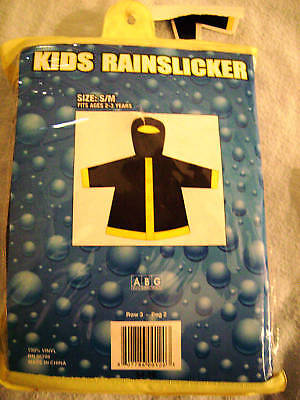 Yellow And Black Rain Slicker For Ages 2-3