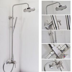 Brushed Nickel Bath Rain Shower Faucet Set 8 034 Shower Head Handheld Shower
