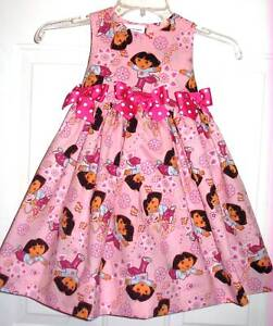 Boutique DORA THE EXPLORER and Boots Sz.2T Bright Pink Daydreams Dress