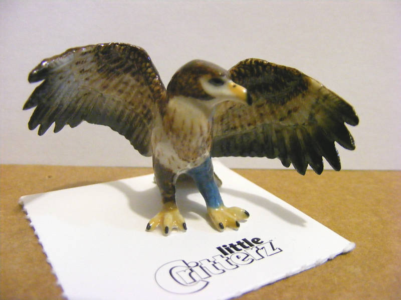 "Little Critterz ""Talon"" The Rescue Eagle, Miniature Animal Figurine, Bird"