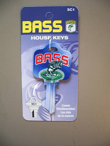 Bass Schlage House Key Blank Cool
