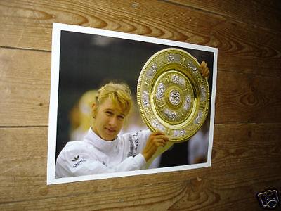 Steffi Graf Wimbledon Tennis Winner Trophy POSTER