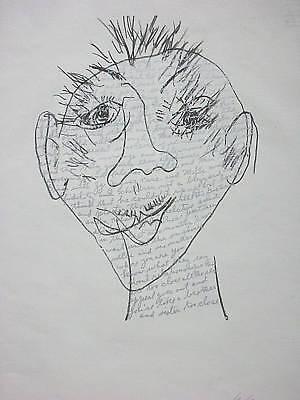 William Anastasi, Siebdruck 2001, signiert, Konzept-Art