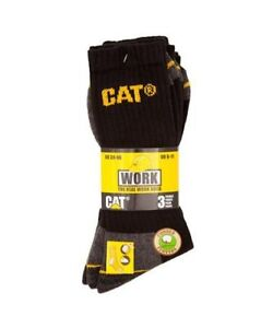 Mens CAT  Work Boot Socks 3 PACK Size  6-11.   * NEW * £5