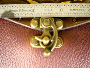 Swing-hook-BAG-clasp-antique-brass-leather-craft-w-rivets-purse-garb-ren-faire