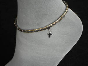 stainless steel italian charm anklets cross charms ankle