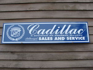 C.1970'S-80'S CADILLAC AUTOMOBILE METAL DEALER SIGN