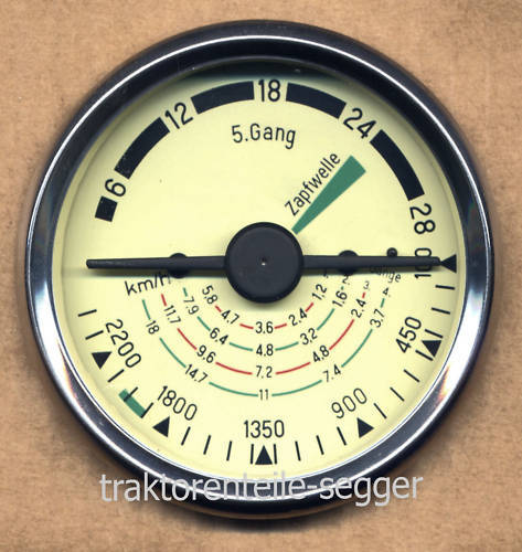 Traktormeter 80 mm R324 Granit 332 Brillant 442 Robust 442/50    277 Foto 1