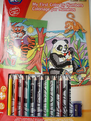 Coloriage Par Numéros - 4 Ans -  Panda Et Tigre