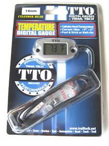 Trail-Tech-TTO-Temperature-Meter-Digital-Gauge-14mm-Spark-Plug-Sensor-NEW