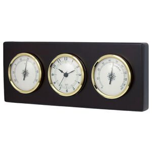 Quality Wall Clock with Thermometer and Hygrometer New