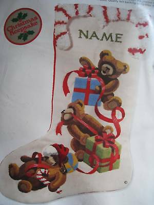 Sunset Crewel Stitchery Holiday Stocking Kit,jingles Loves Christmas,2001,18