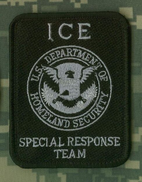 HOMELAND SECURITY ICE SRT SPECIAL RESPONSE TEAM SRT SPECIAL RESPONSE PATCH