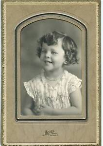 "Antique Photo - Adorable Little Girl W/Necklace 6""x8"""