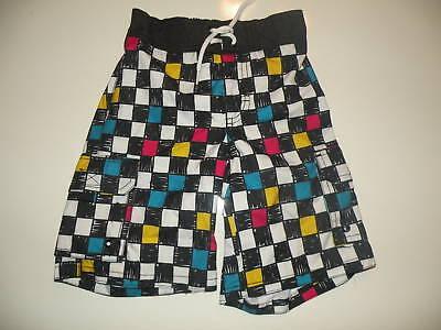 Gymboree Multi Color Checkered Swim Trunks Boardshorts 3 4 5