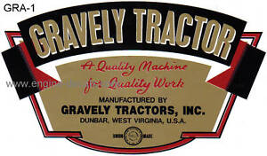Gravely-Tractor-L-52-57-type-decal-gold-red-b-amp-w