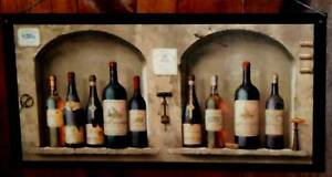 Http Www Ebay Com Itm Wine Kitchen Wall Decor Plaque Tuscany Italian French Bistro Brown Arches Big 300722123299