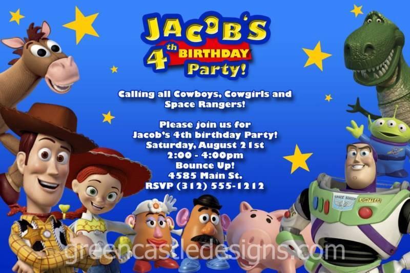 Toy Story Invitation - 20 Custom Photo Birthday Party Invites Buzz Woody Jessie