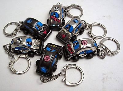 6 Old Vw Volkswagen Beetle Metal Keychains Vending Toys