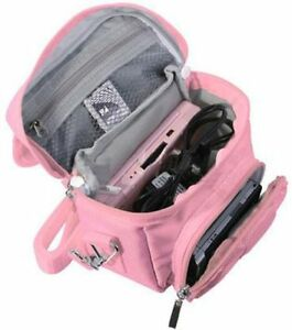 PINK TRAVEL BAG CARRY CASE NINTENDO 3DS DS LITE DSi XL