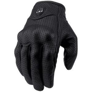 New-Icon-Pursuit-Motorcycle-Riding-Gloves-Black-Medium