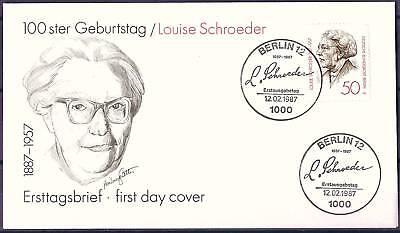 Berlin 1987: Louise Schroeder 100. Geburtstag! FDC der Nr. 779! 1711